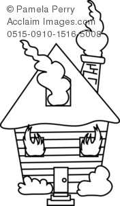 coloring house on fire drawing two story house on fire clipart etc on fire coloring drawing house