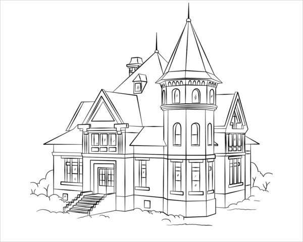 coloring houses 9 house coloring pages jpg ai illustrator download coloring houses