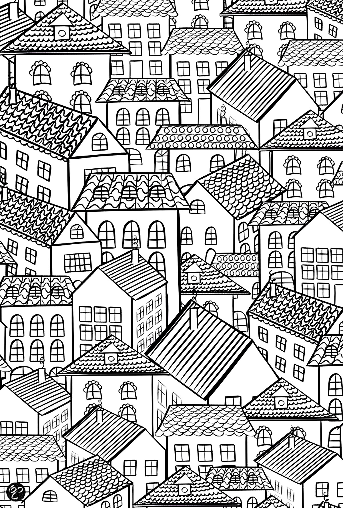 coloring houses architecture village roofs architecture adult coloring pages coloring houses