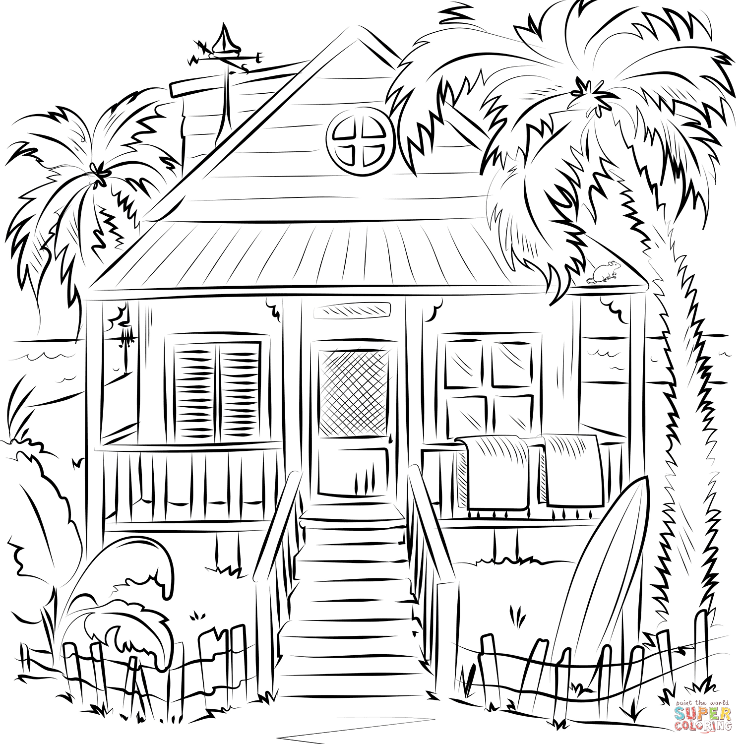 coloring houses beach house coloring page free printable coloring pages coloring houses
