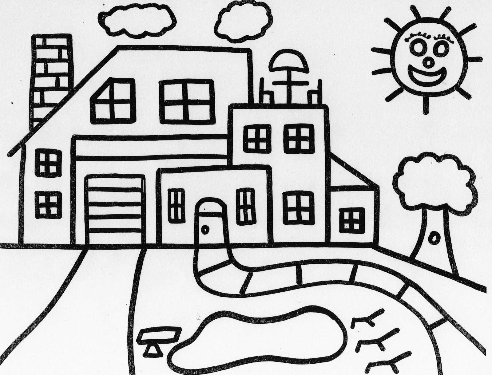 coloring houses beautiful kids house coloring colour drawing hd wallpaper coloring houses