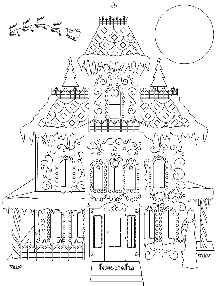coloring houses breathtaking gingerbread house coloring page pdf houses coloring