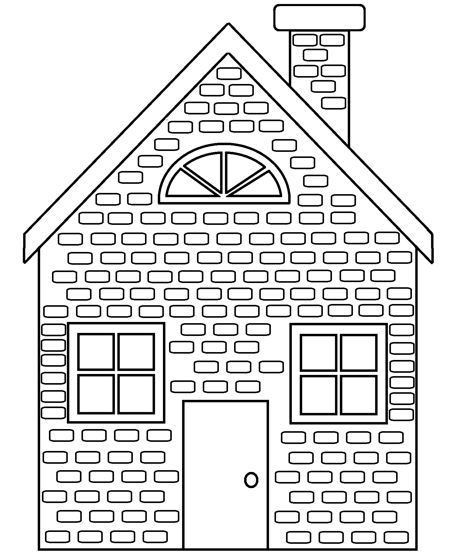 coloring houses brick coloring page coloring home coloring houses