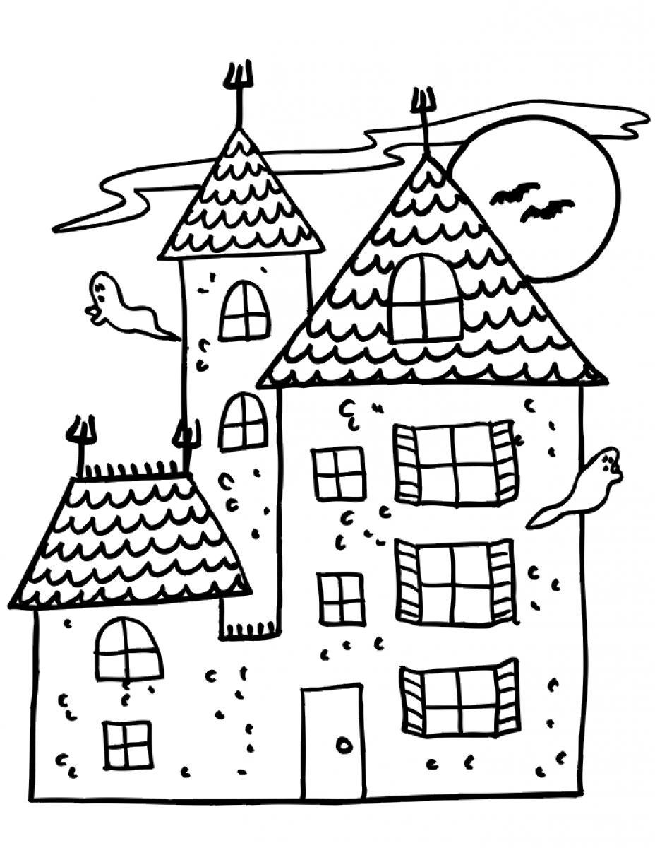 coloring houses free printable haunted house coloring pages for kids houses coloring