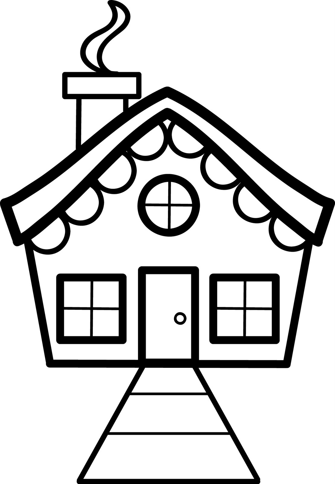 coloring houses sunny day house coloring page free clip art coloring houses