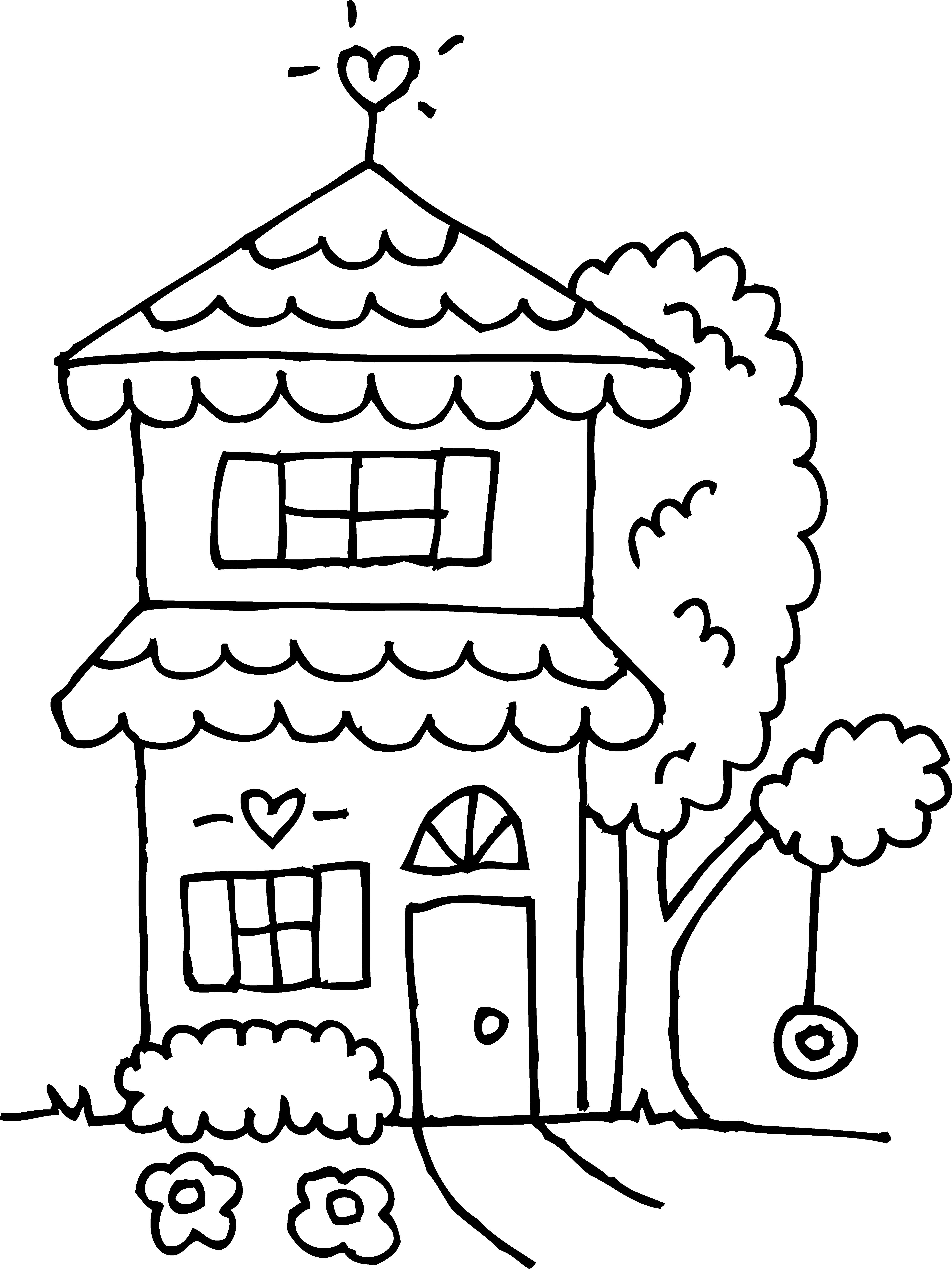 coloring houses two story house coloring page free clip art houses coloring