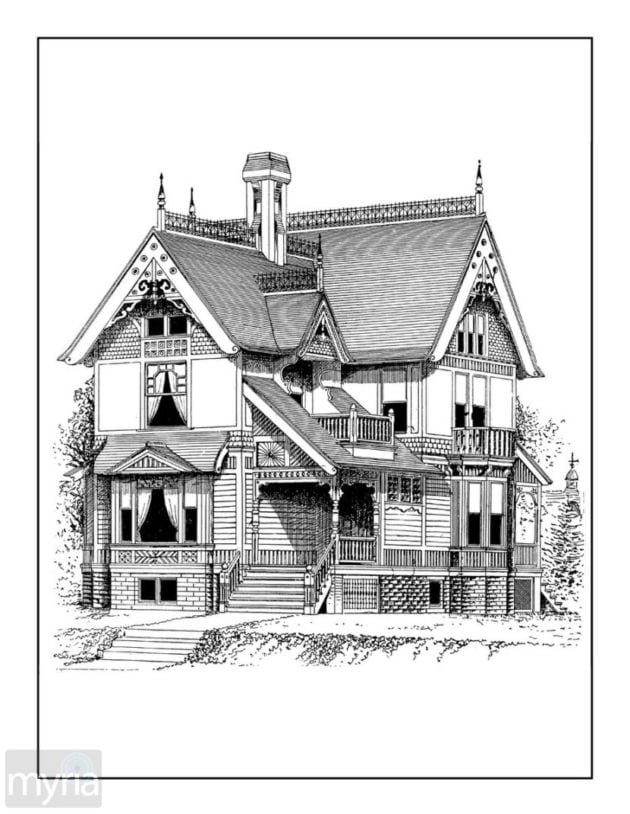 coloring houses vintage homes adult coloring book 3 beautiful victorian houses coloring