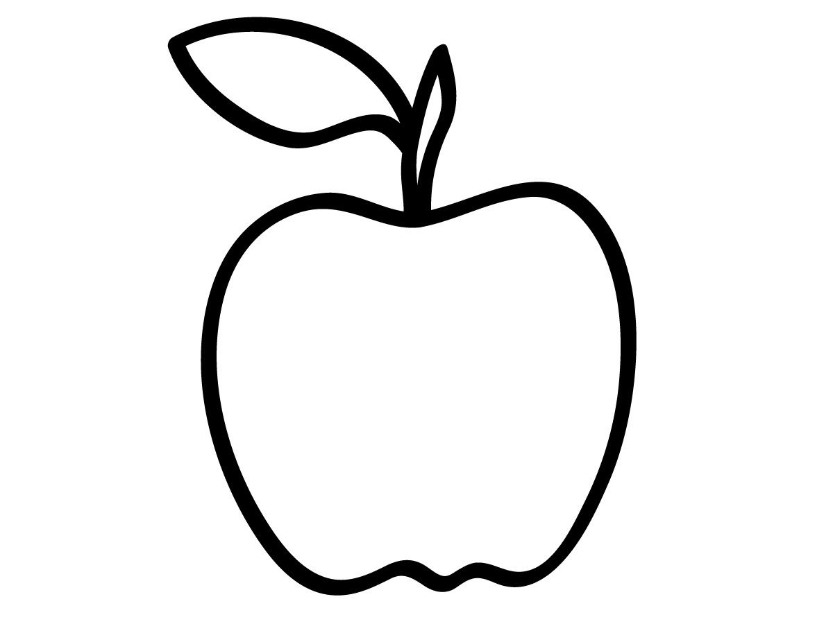 coloring image of an apple 6 best images of free apple printables apple outline coloring an of image apple