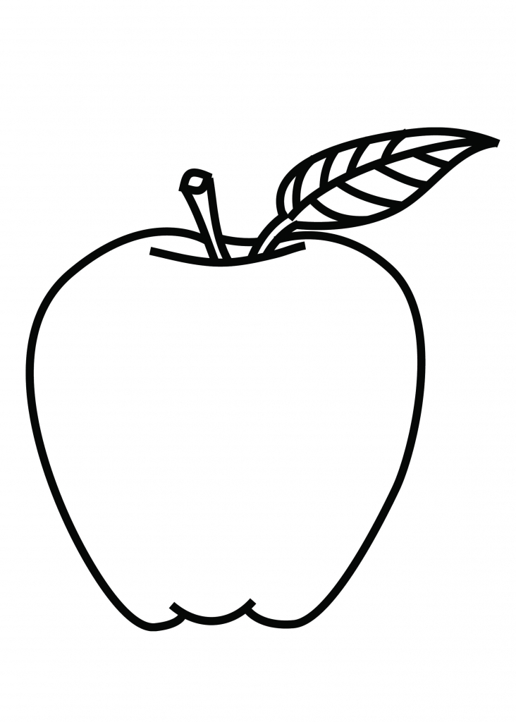 coloring image of an apple 7 best images of printable apple template preschool free image of apple an coloring