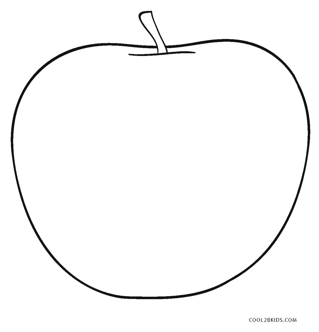 coloring image of an apple apple coloring page super simple coloring of an apple image