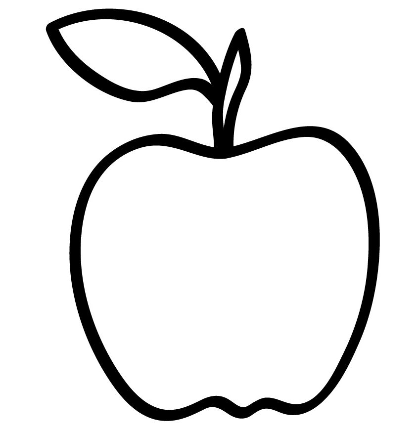 coloring image of an apple apple coloring pages idea whitesbelfast an image of apple coloring
