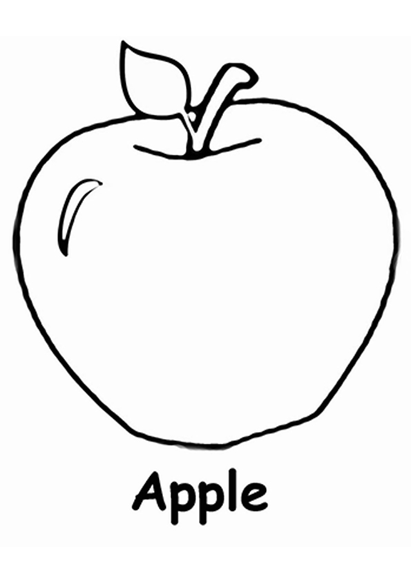 coloring image of an apple apple outline free download on clipartmag apple an image coloring of