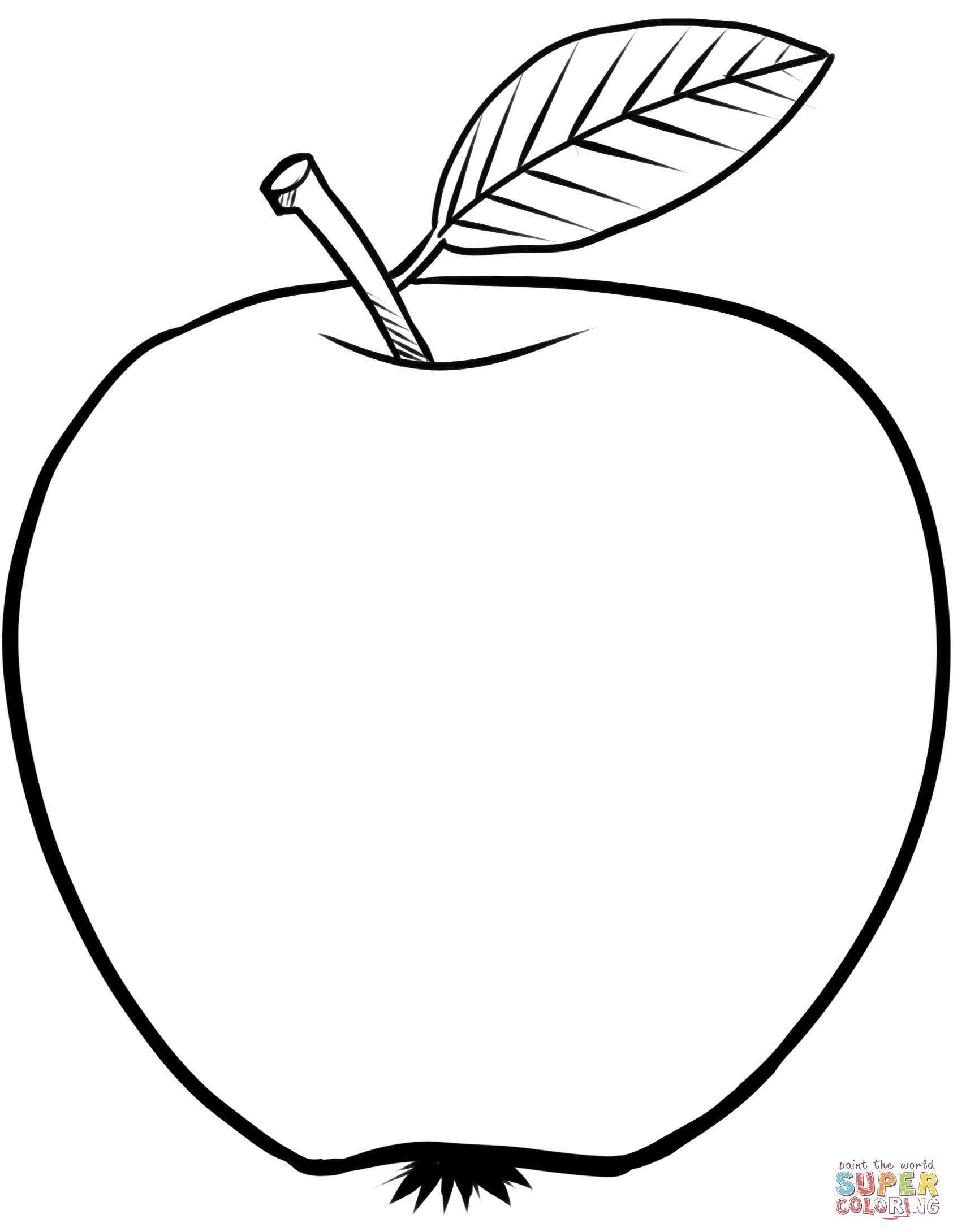 coloring image of an apple apple with leaf coloring page coloring sky coloring image apple of an
