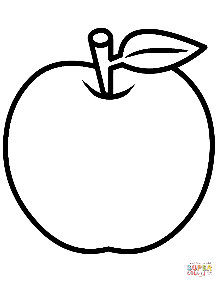 Coloring image of an apple