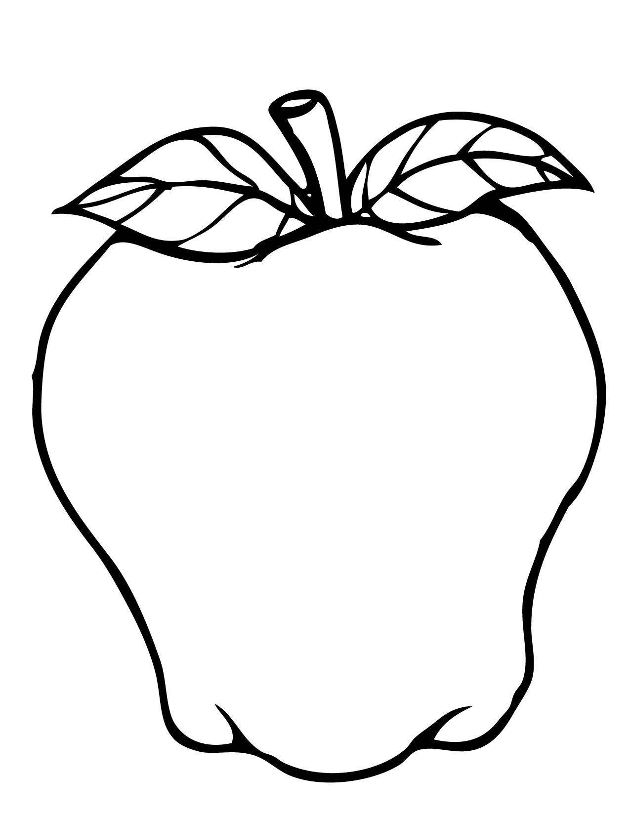 coloring image of an apple free printable apple coloring pages for kids an image apple coloring of