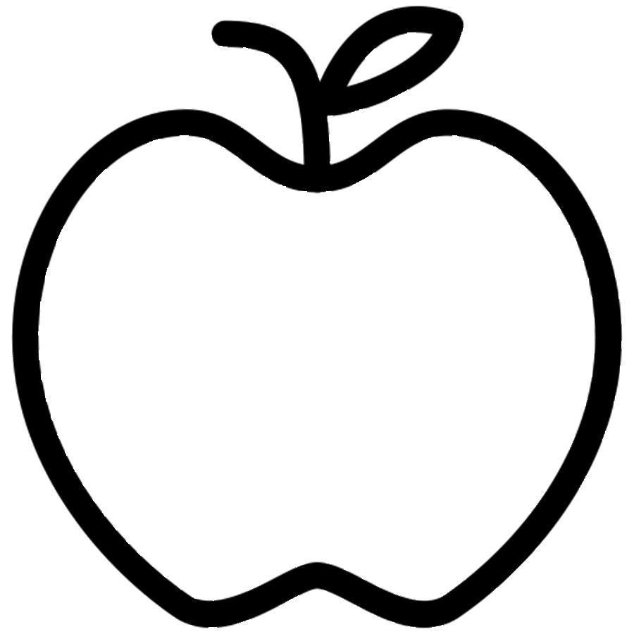 coloring image of an apple free printable apple coloring pages for kids apple coloring an of image