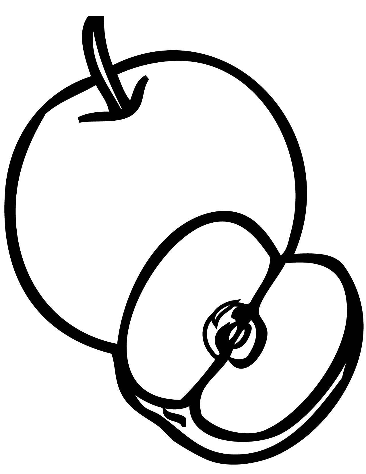 coloring image of an apple free printable apple coloring pages for kids image an of apple coloring
