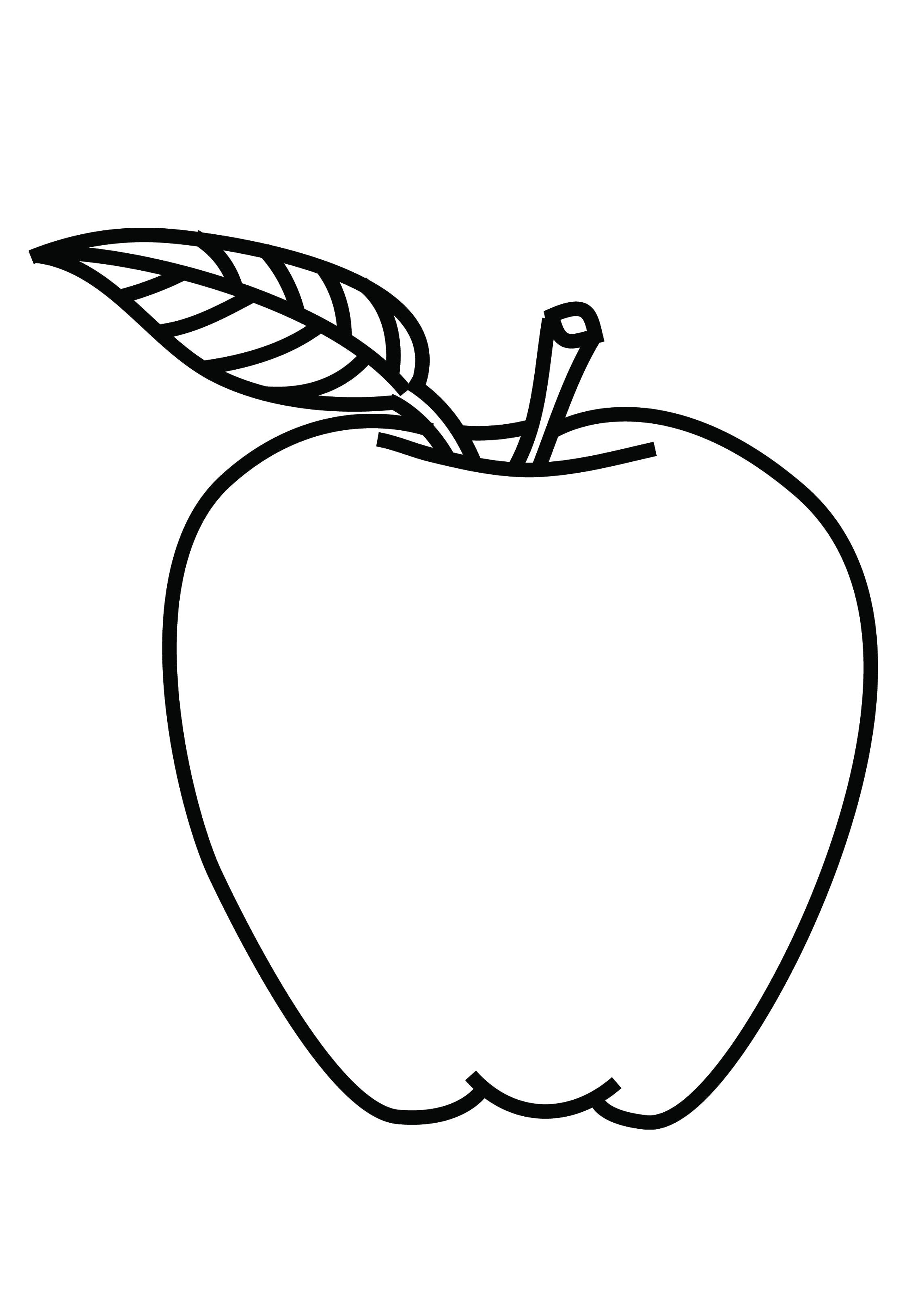 coloring image of an apple free printable apple coloring pages for kids image coloring of an apple