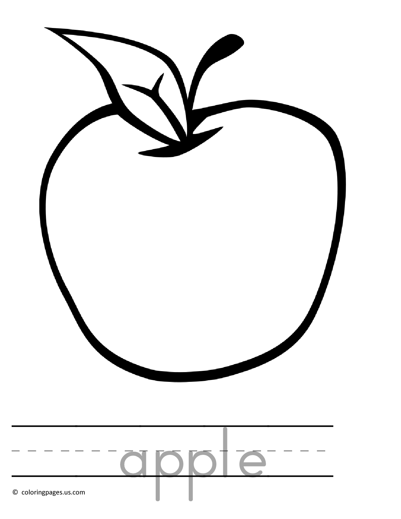 coloring image of an apple free printable apple coloring pages for kids image of an apple coloring