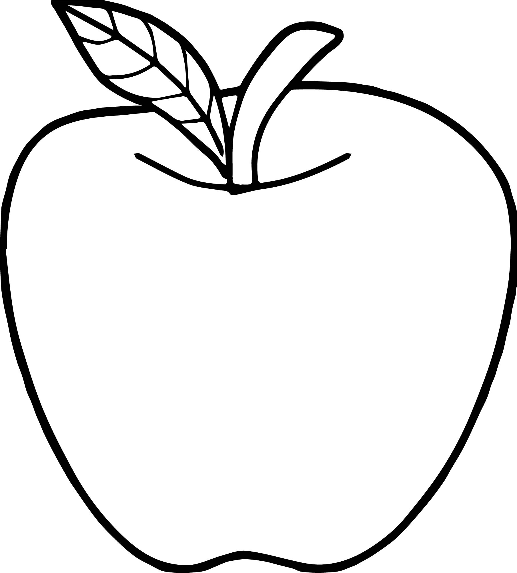 coloring image of an apple free printable apple coloring pages for kids of image apple an coloring