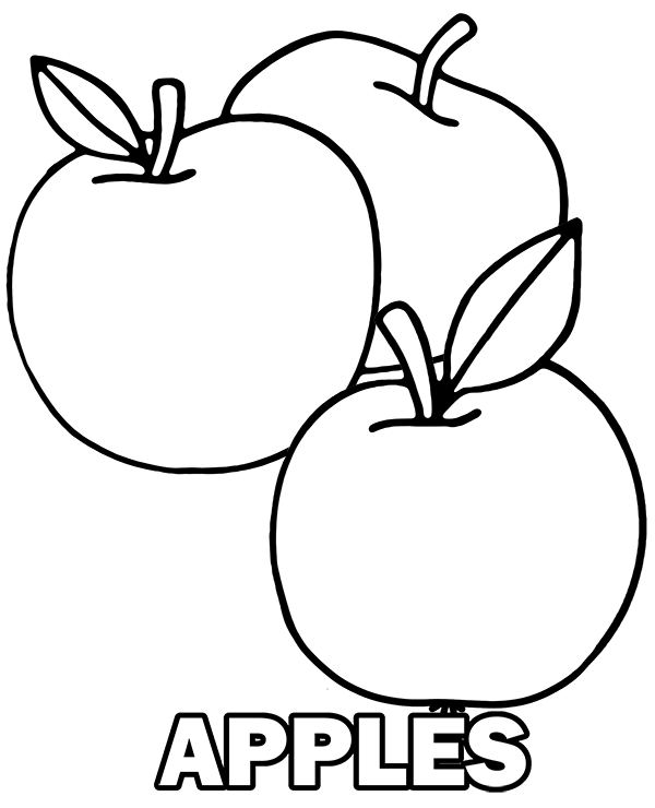 coloring image of an apple half apple drawing at getdrawings free download coloring image an of apple