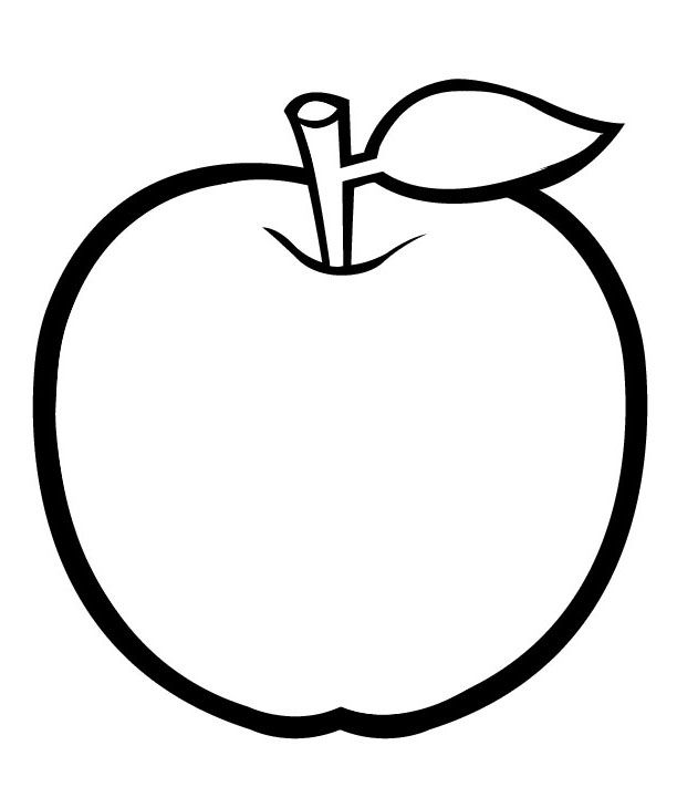 coloring image of an apple kindergarten worksheet guide pictures clip art line of image an apple coloring