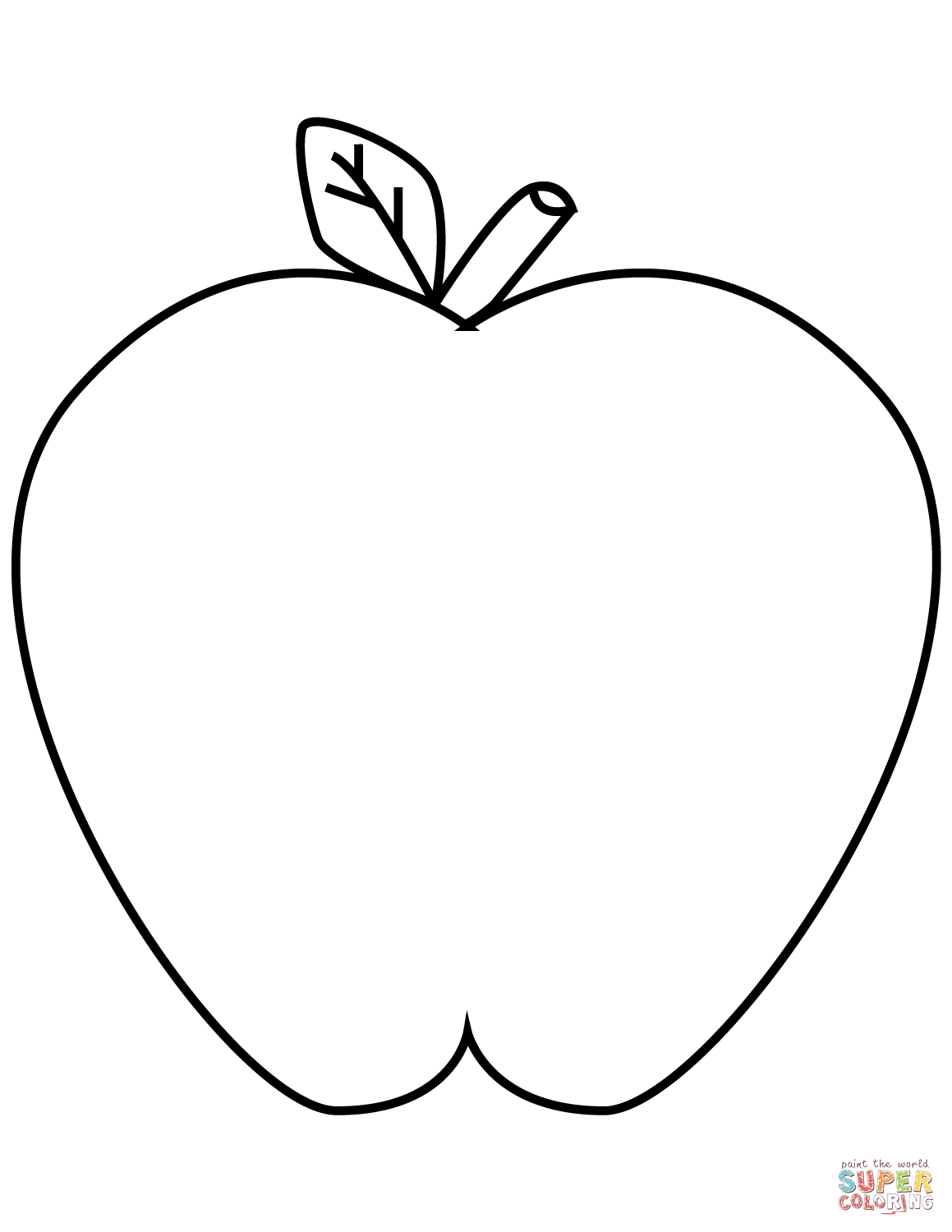 coloring image of an apple simple apple drawing free download on clipartmag of coloring apple an image