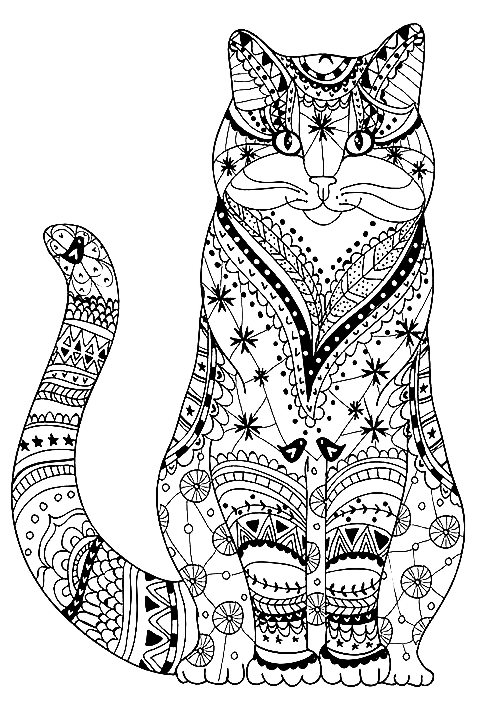 coloring image of cat a simple drawing of kitty cat coloring page kids play color cat of coloring image