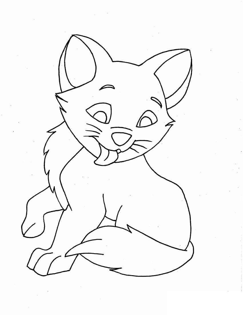 coloring image of cat black and white cat lineart free clip art cat of coloring image