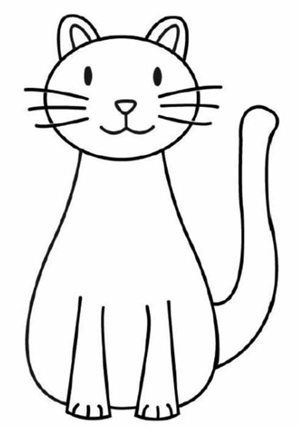 coloring image of cat cat black and white realistic coloring pages of cats image cat coloring of