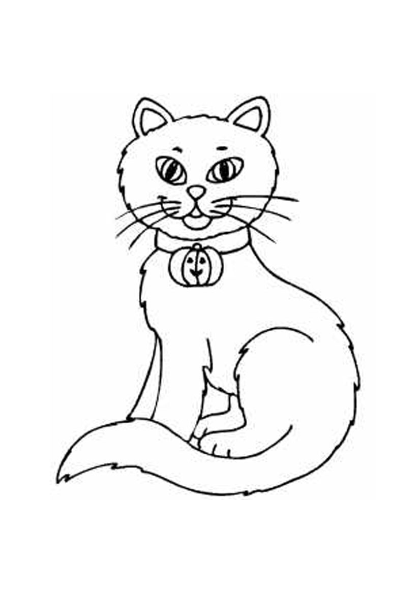 coloring image of cat coloring pages cats and kittens coloring pages free and coloring of image cat