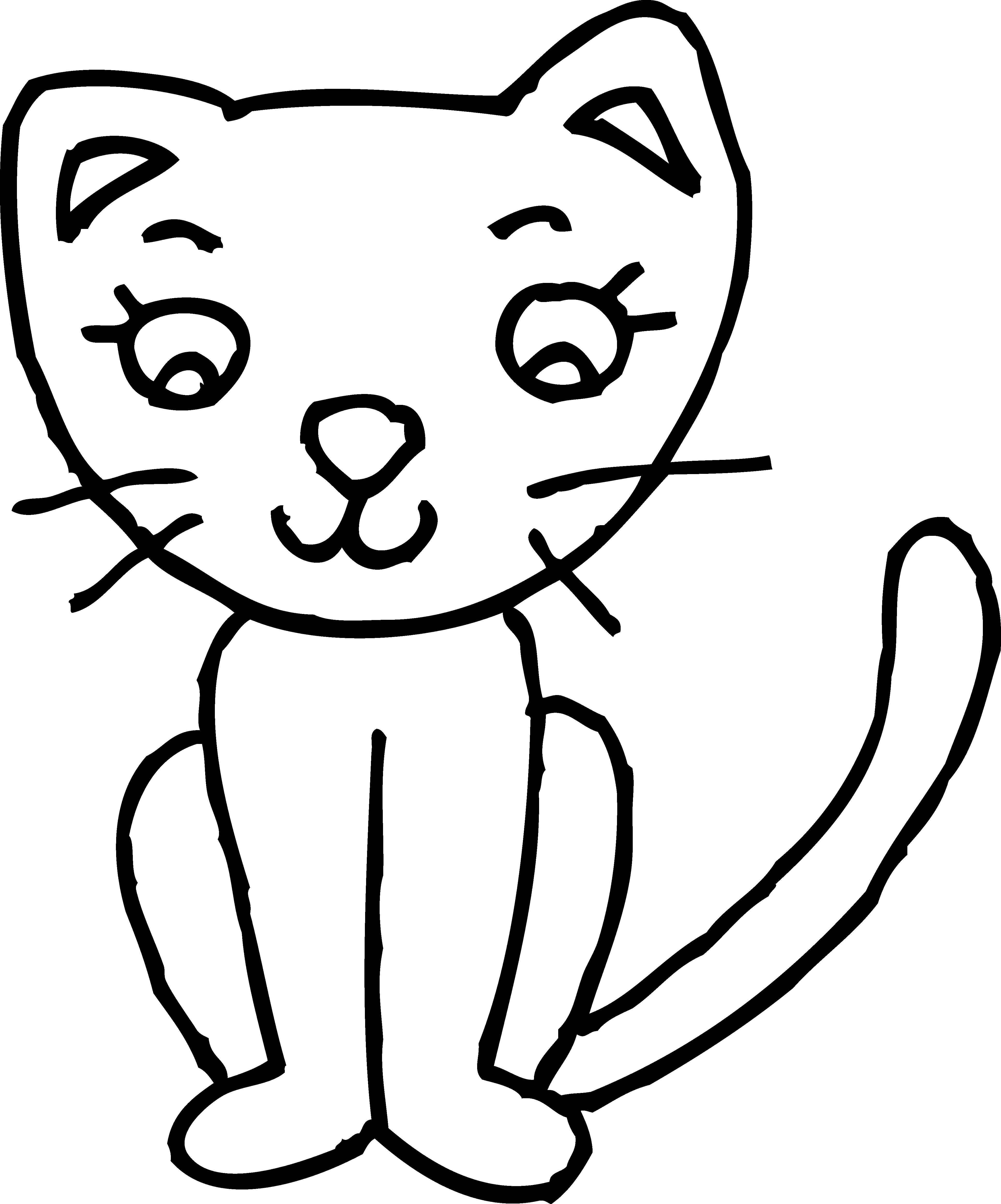 coloring image of cat kitten coloring pages image cat coloring of