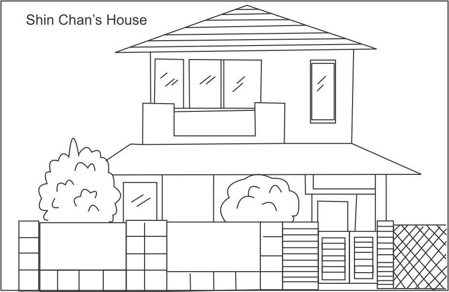 coloring image of house draw your house coloring page twisty noodle house coloring of image