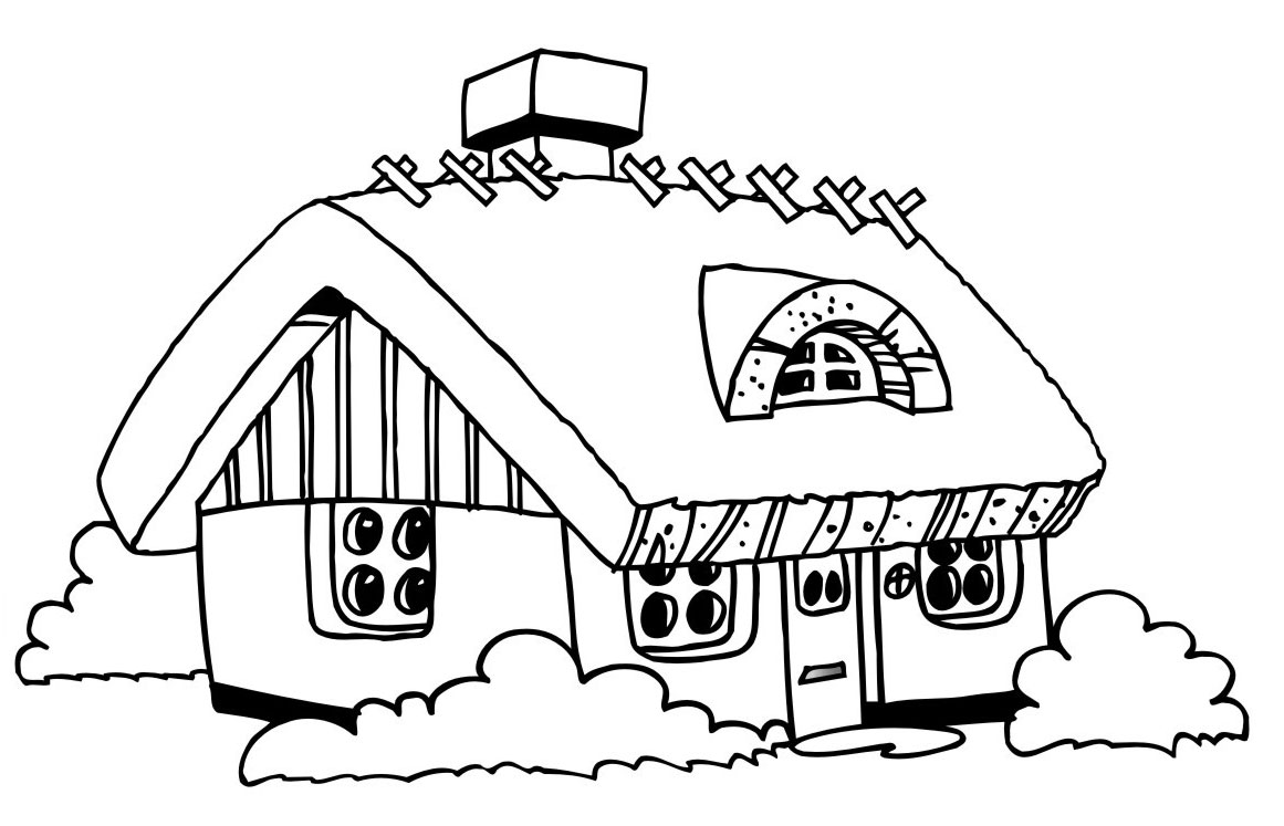coloring image of house free printable house coloring pages for kids coloring house of image