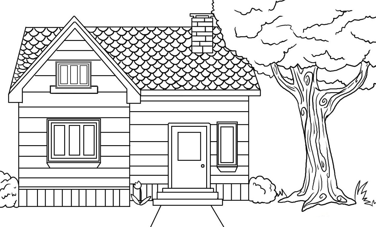 coloring image of house free printable house coloring pages for kids coloring house of image 1 1