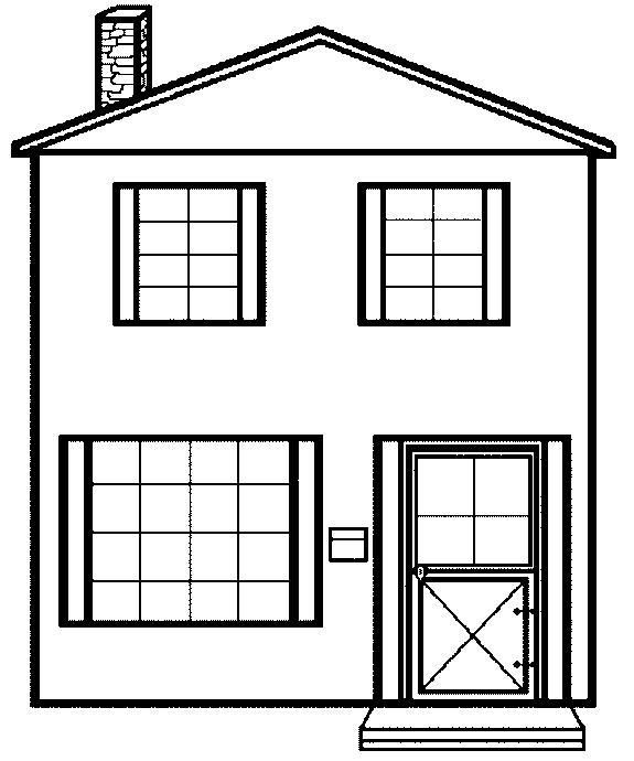 coloring image of house free printable house coloring pages for kids coloring image house of