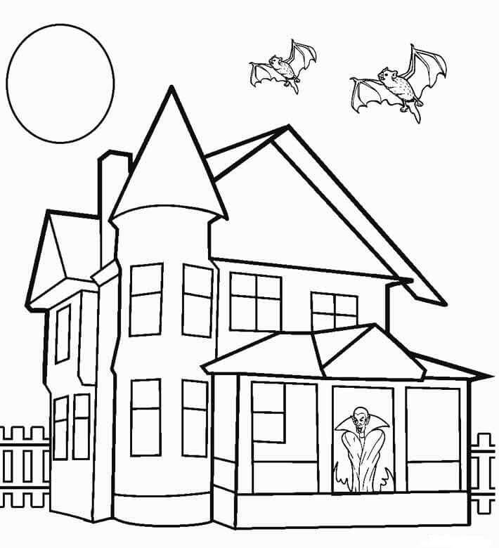 coloring image of house free printable house coloring pages for kids coloring image of house