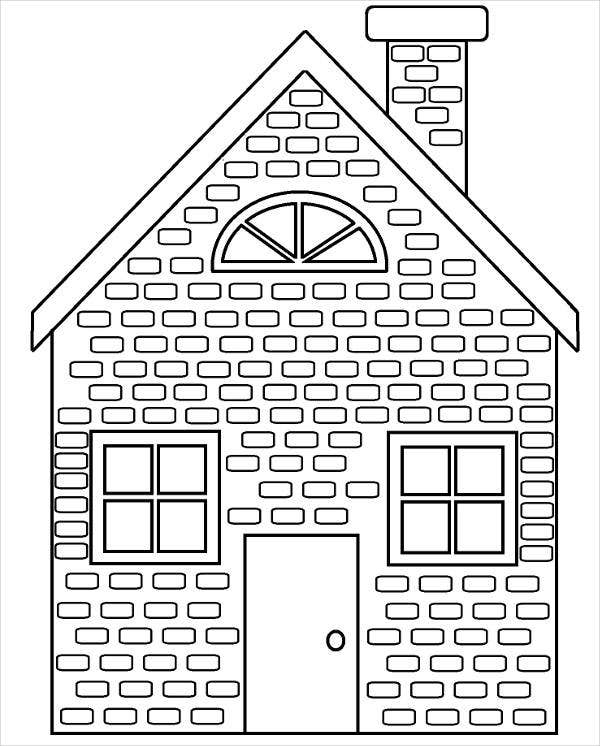 coloring image of house free printable house coloring pages for kids image house coloring of