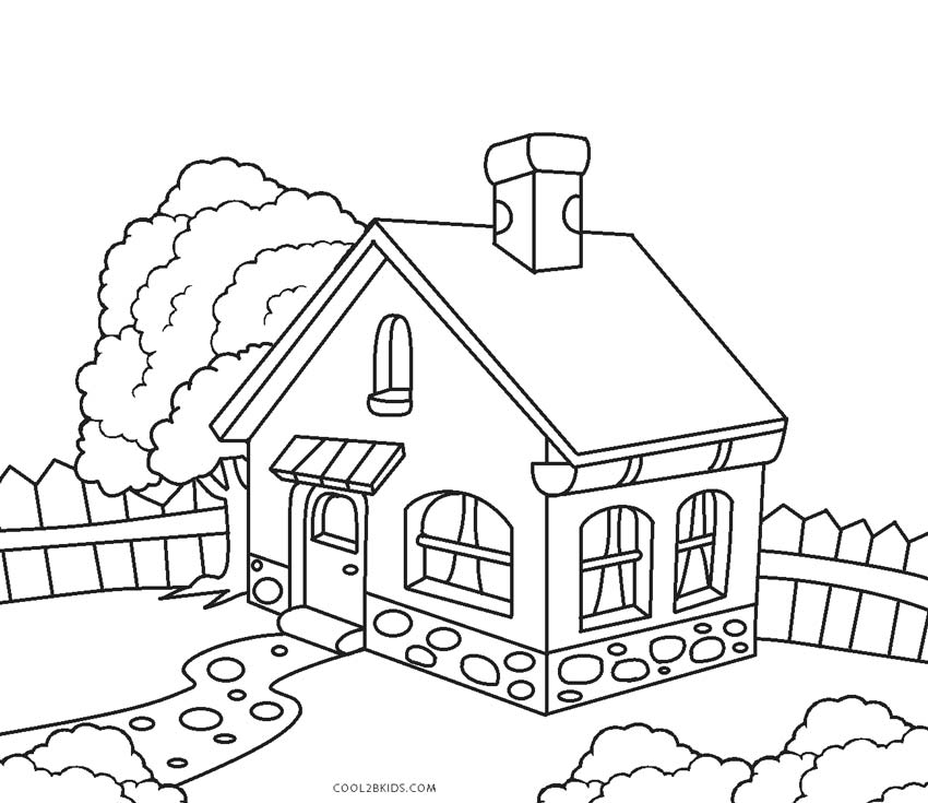 coloring image of house free printable house coloring pages for kids of image coloring house