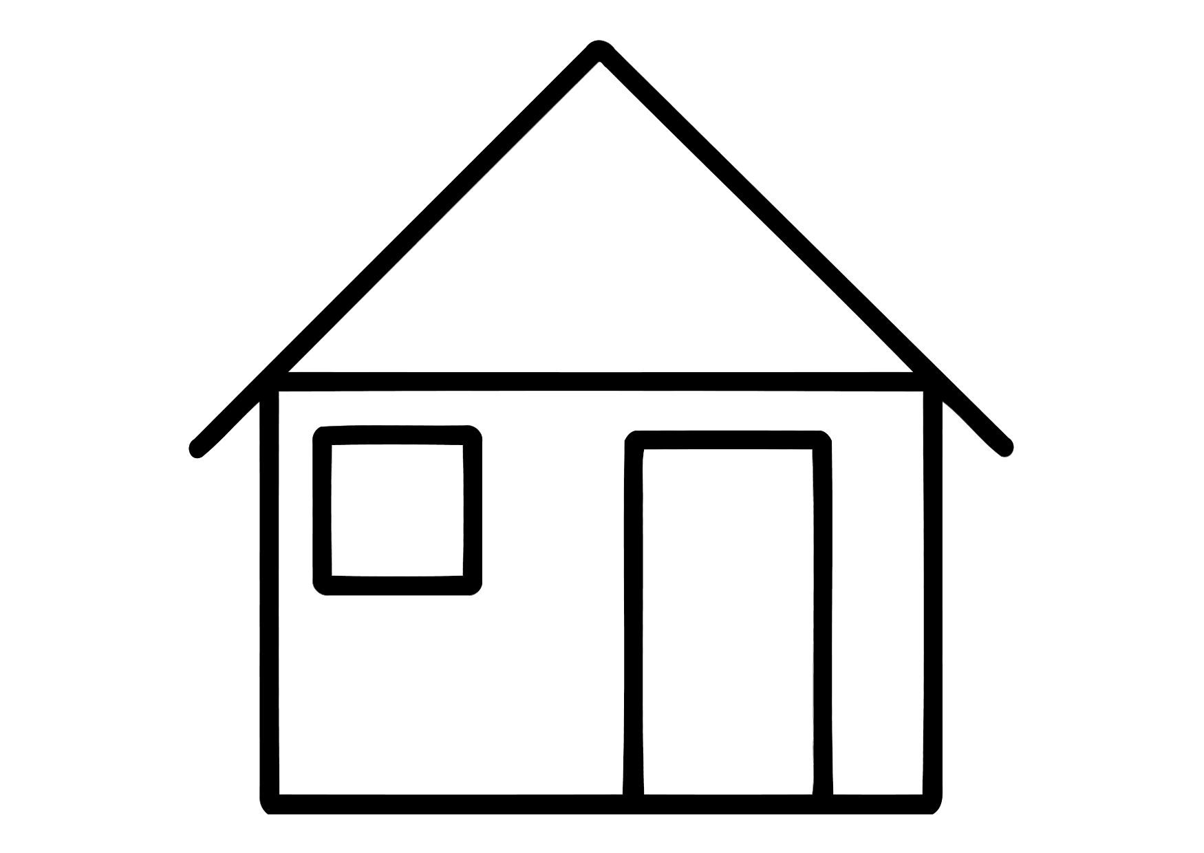 Coloring image of house