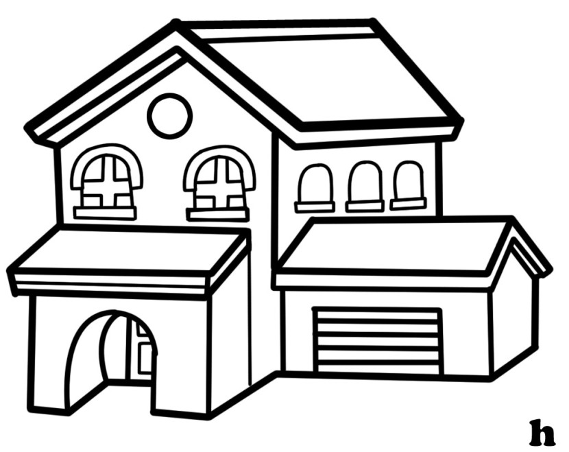 coloring image of house house interior coloring pages at getcoloringscom free house of coloring image