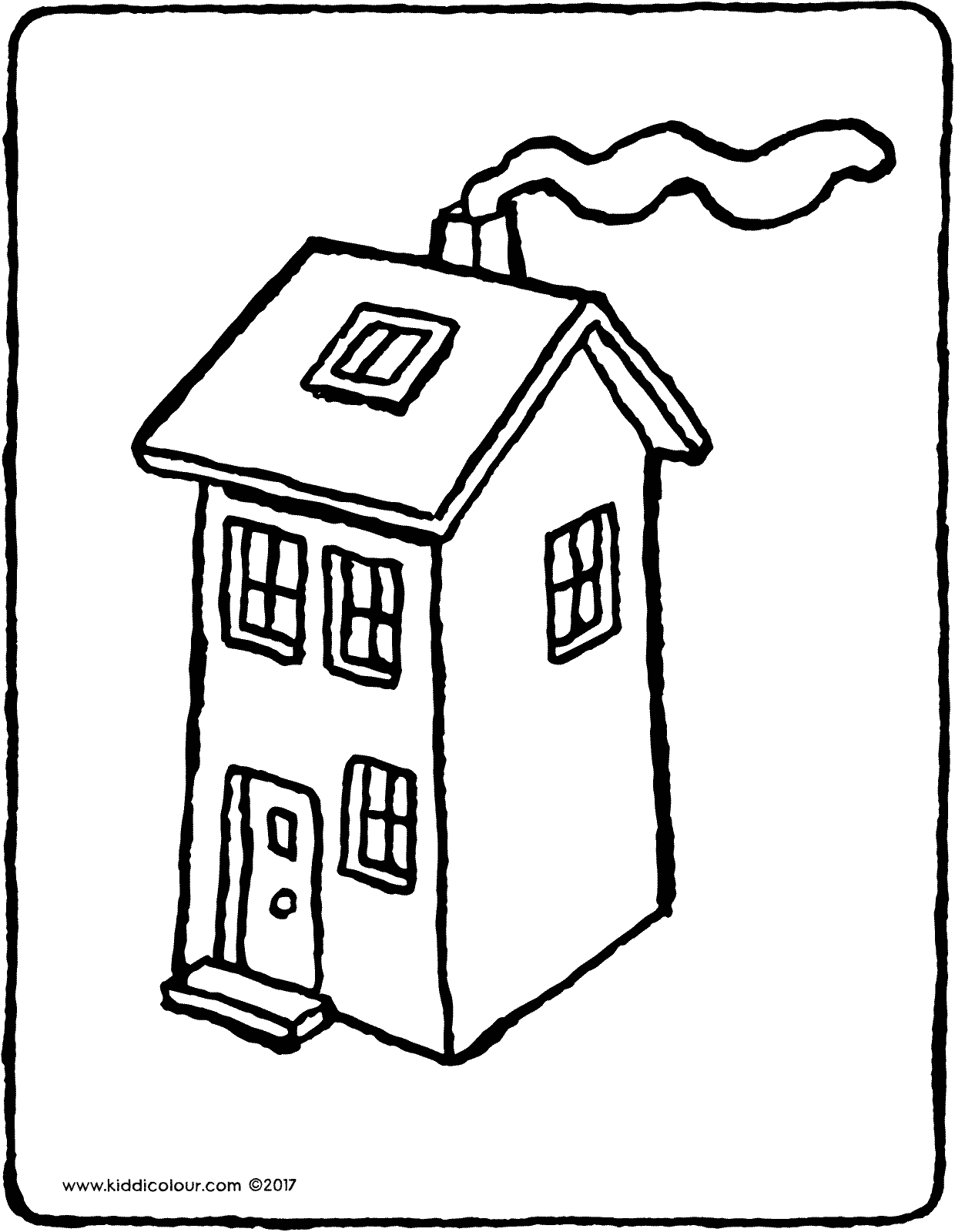 coloring image of house house kiddicolour house image of coloring