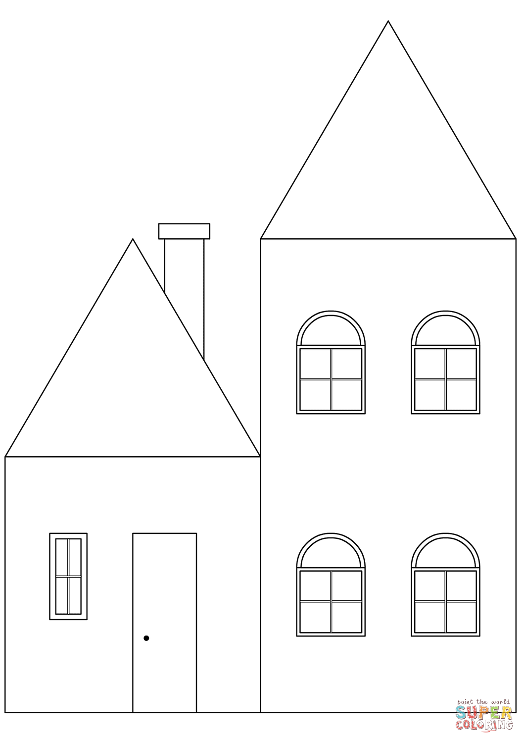 coloring image of house simple house coloring page free printable coloring pages coloring house of image
