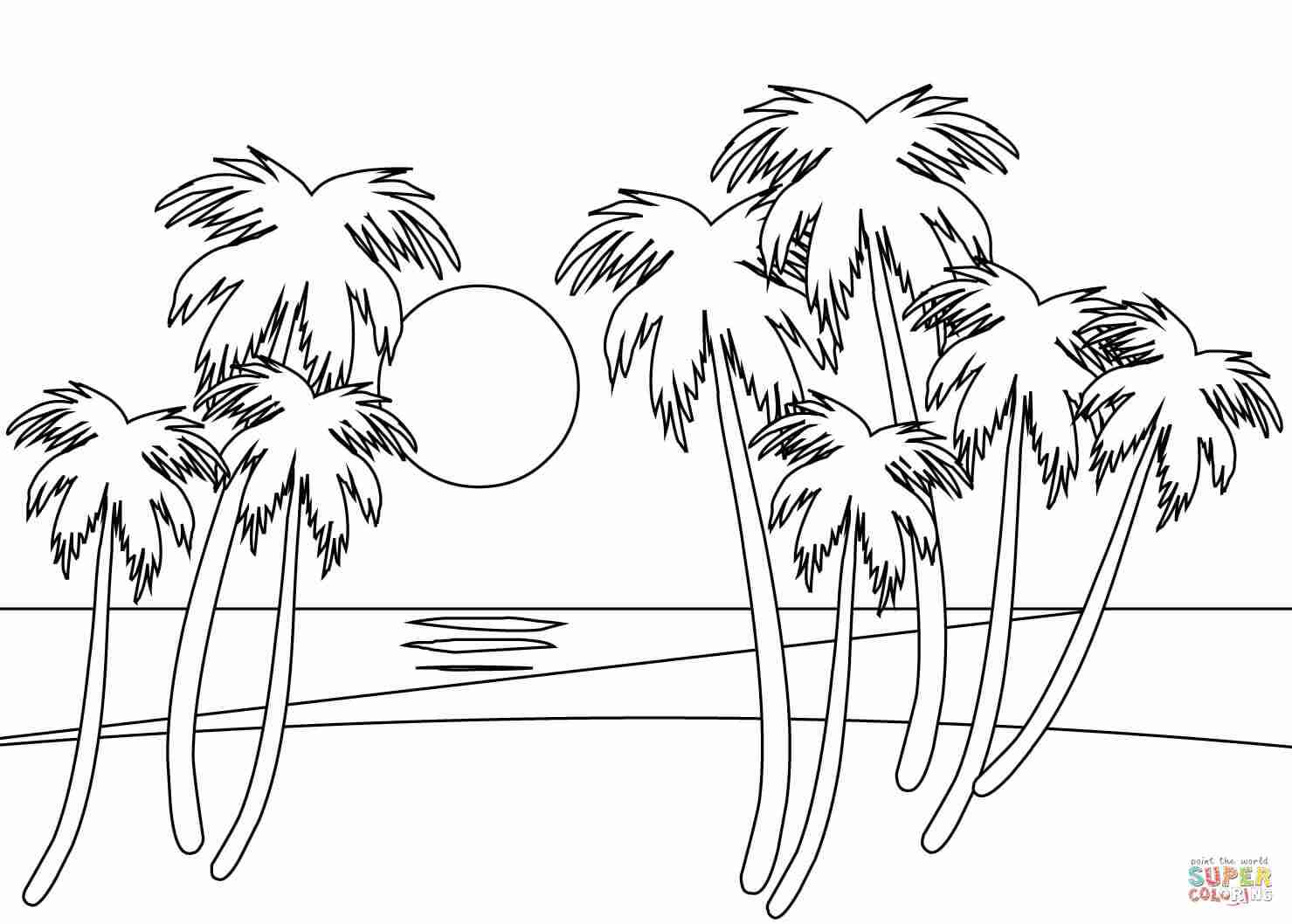 coloring image sunset beach sunset coloring pages at getcoloringscom free sunset coloring image