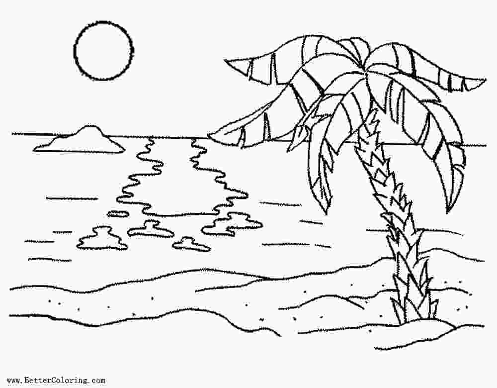 coloring image sunset beautiful sunset drawing at getdrawings free download sunset coloring image