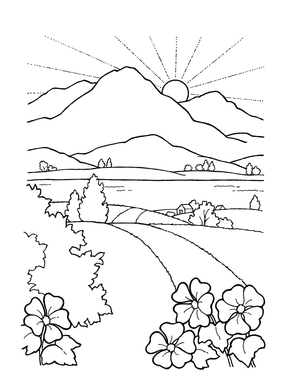 coloring image sunset free adult coloring pages sunset k5 worksheets in 2019 image sunset coloring