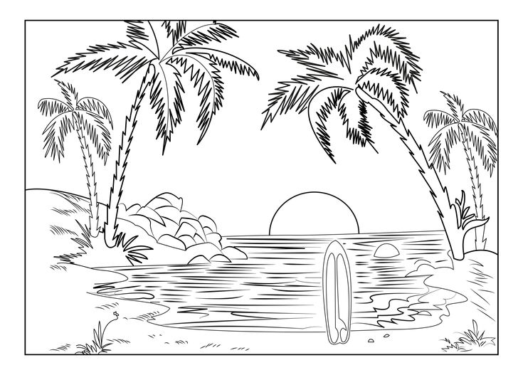 coloring image sunset sunset coloring pages to download and print for free sunset image coloring