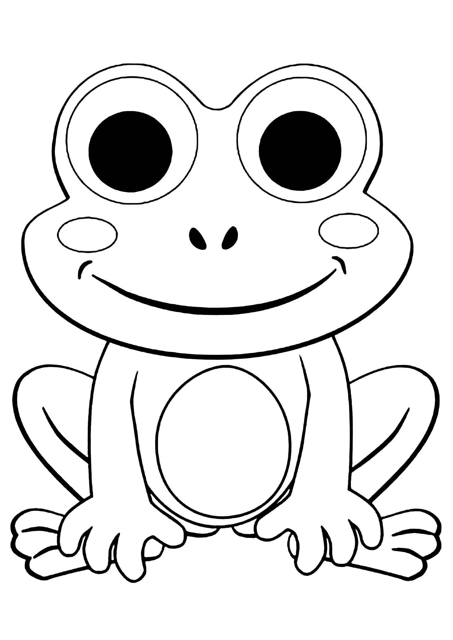 coloring images of frog print download frog coloring pages theme for kids images coloring of frog