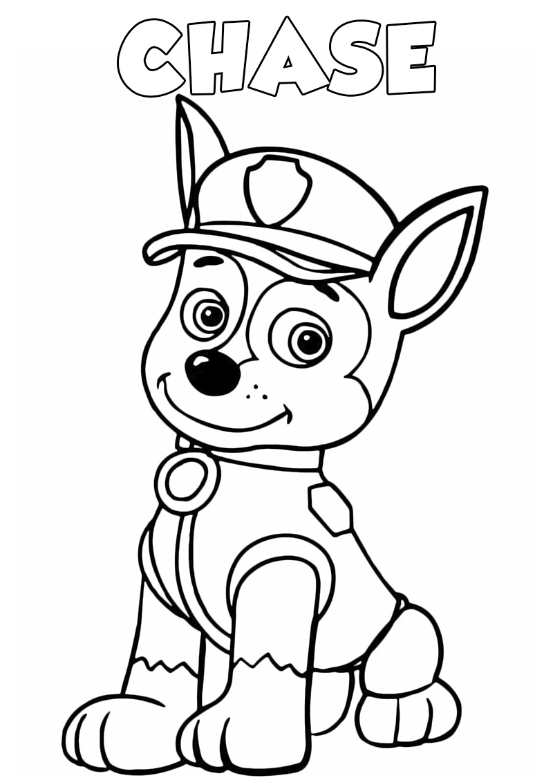 Coloring images paw patrol