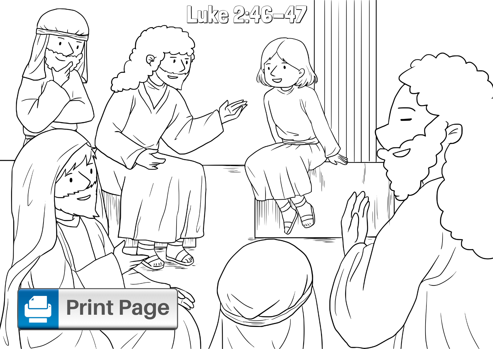 coloring jesus boy jesus in the temple coloring pages for kids connectus jesus coloring